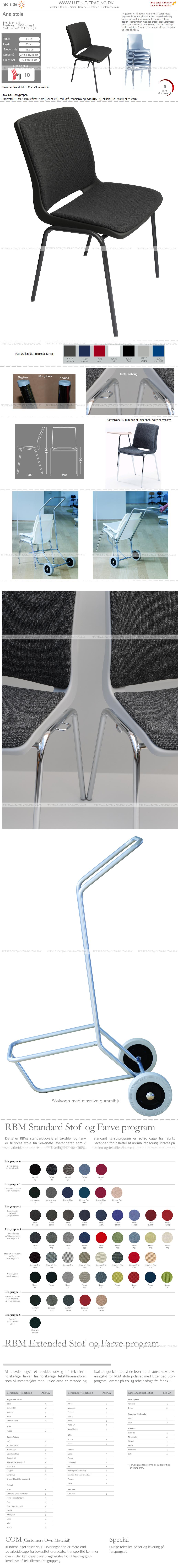 Ana stol grå stel-12930-60051